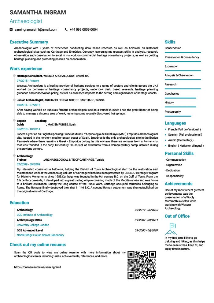 Online Resume And PDF Creator