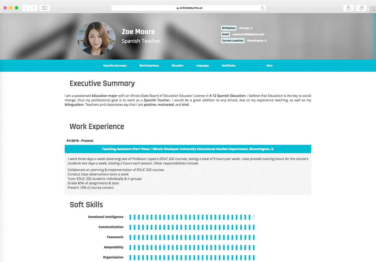 create resume from linkedin
